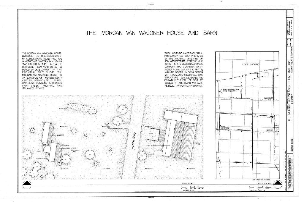 Morgan Van Wagoner House & Barn, Hosmer Road, Somerset, Niagara County, NY