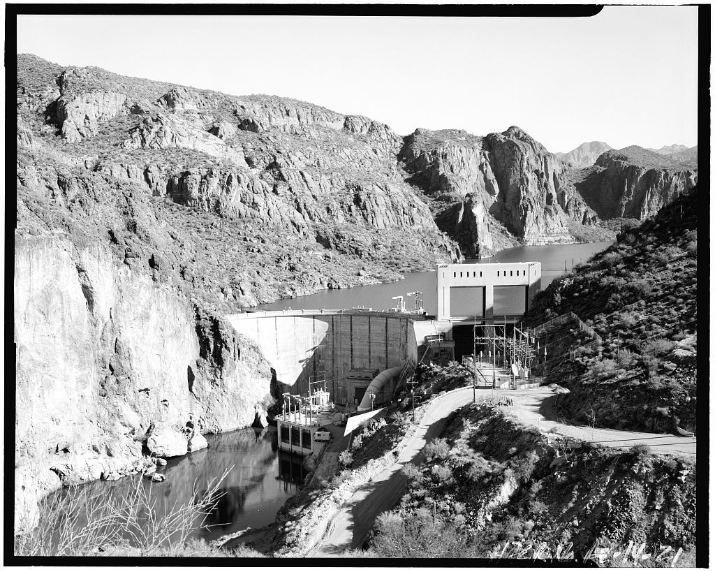 Mormon Flat Dam, On Salt River, Eastern Maricopa County, east of Phoenix, Phoenix, Maricopa County, AZ