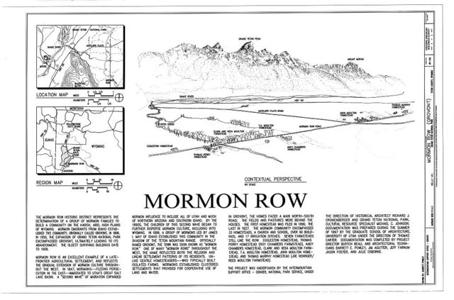 Mormon Row, Mormon Row Road near intersection of Antelope Flats Road, Kelly, Teton County, WY