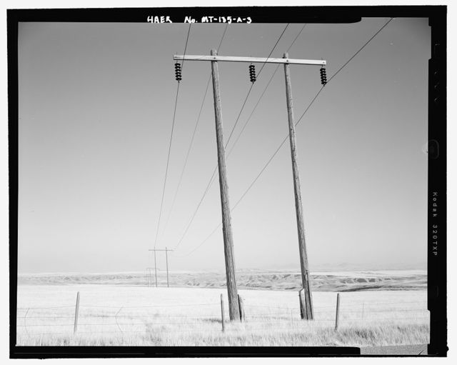 Morony Hydroelectric Facility, Morony-to-Rainbow 100 kV Transmission Line, West bank of the Missouri River, Great Falls, Cascade County, MT