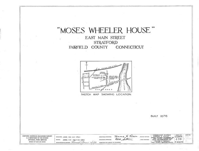 Moses-Wheeler House, East Main Street, Stratford, Fairfield County, CT
