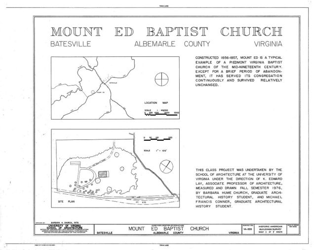 Mount Ed Baptist Church, State Route 635, Batesville, Albemarle County, VA