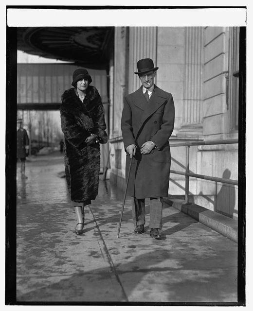 Mr. & Mrs. Luciano Mascia (Md. Ass't. Sec. of Italian Embassy), 1/13/25