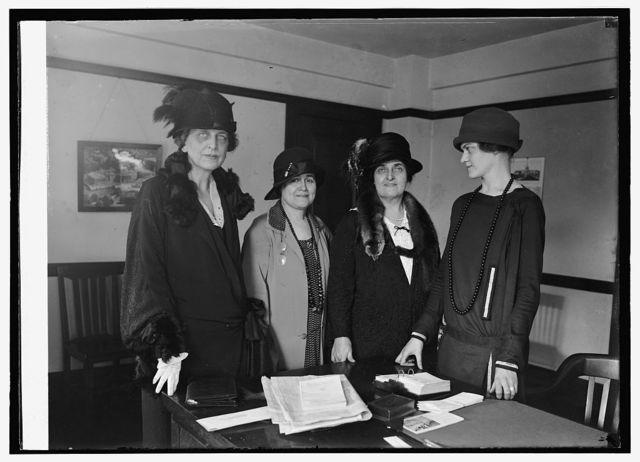 Mrs. Blair Banister, Mrs. E.N. Blair, Mrs. H.W. Wilson, Mrs. W.M. Adams, 10/3/24