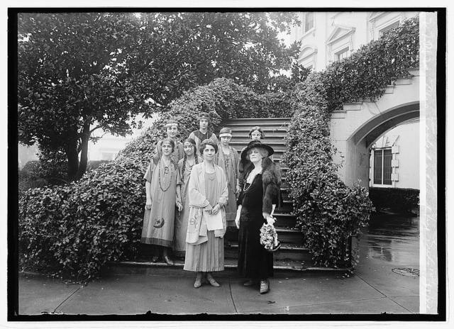 Mrs. Coolidge & Campfire Girls, 10/18/23