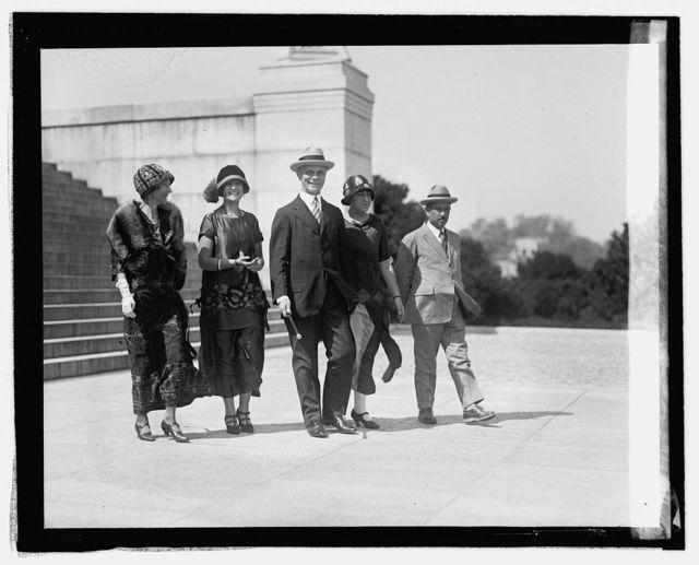 Mrs. Geissler, Lenor Orellano, A.H. Geissler, Concha Orellano, Col. Victor Norales, 9/8/24