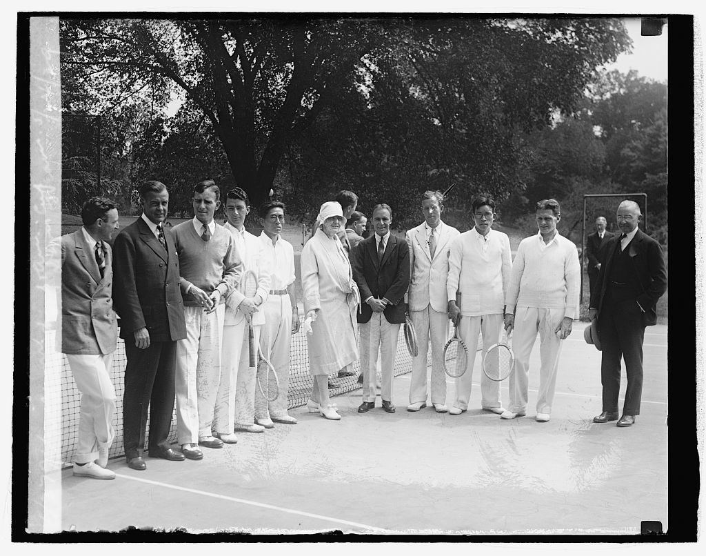 Mrs. Hoover with Jap. & Am. Davis Cup teams, 5/24/29