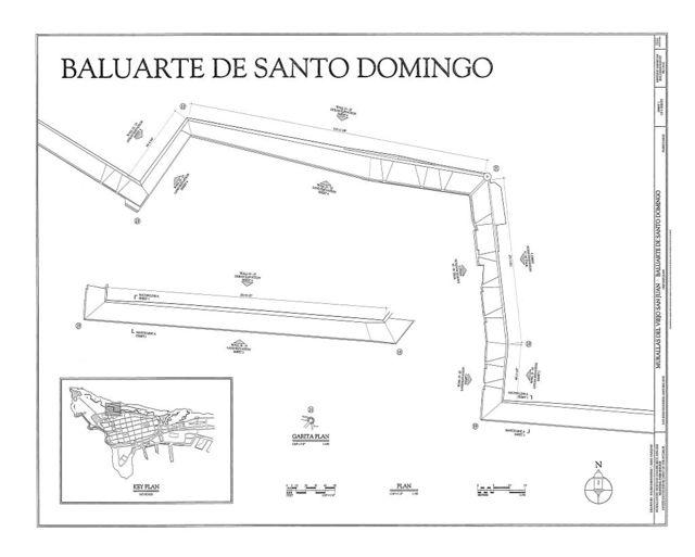 Murallas del Viejo San Juan, Baluarte de Santo Domingo, San Juan, San Juan Municipio, PR