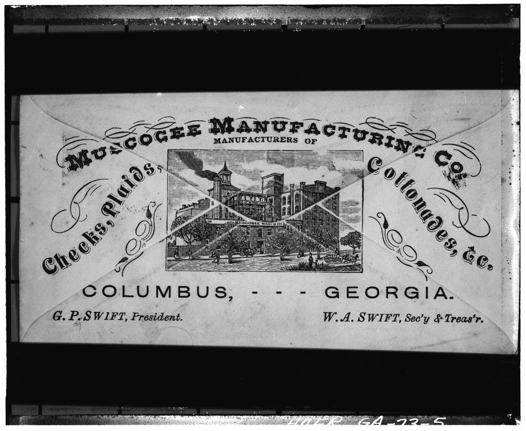 Muscogee Manufacturing Company, Front Avenue & Fourteenth Street, Columbus, Muscogee County, GA
