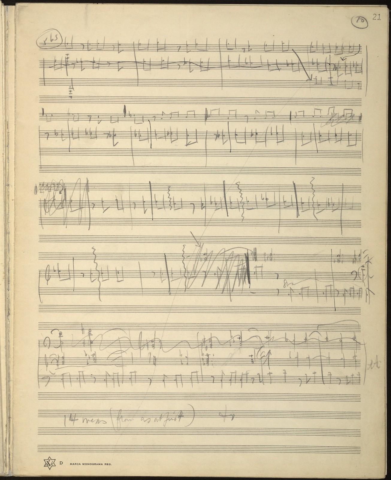 Music for Radio [open score pencil sketches]