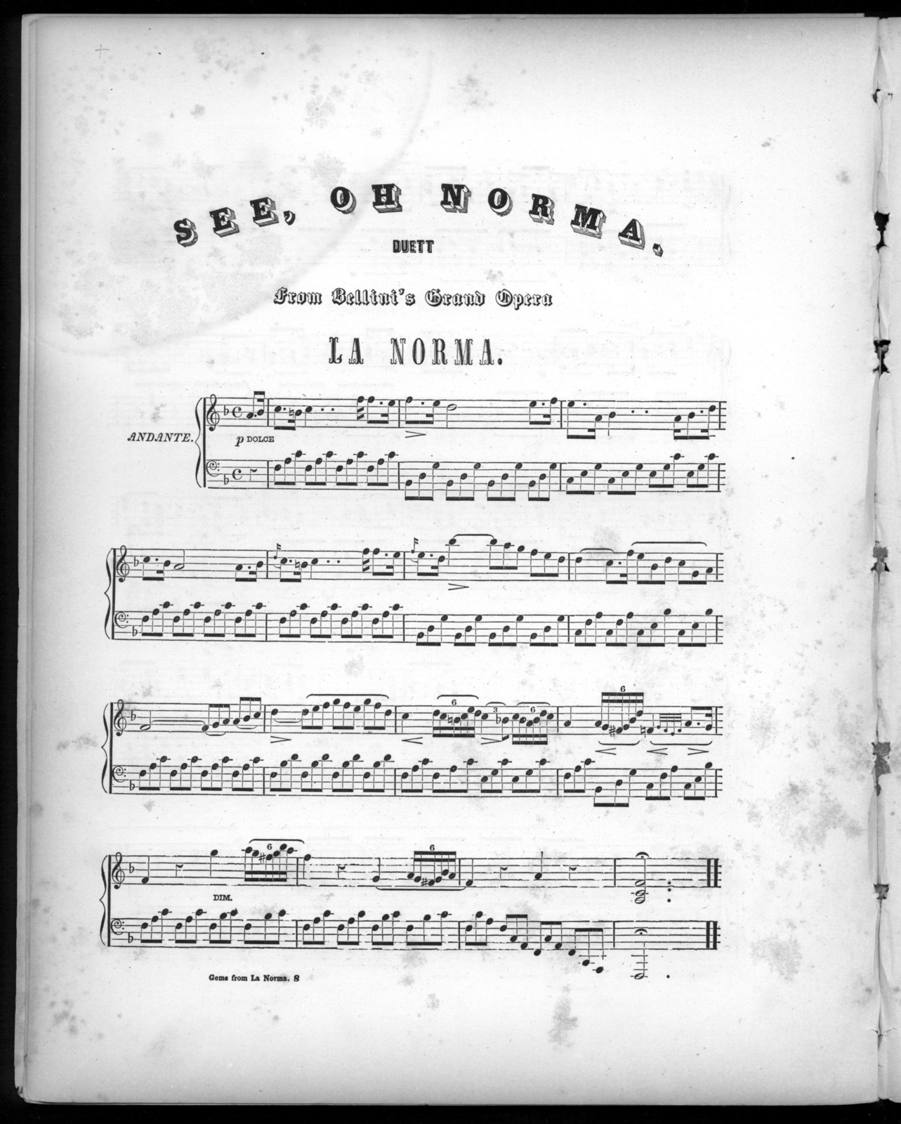 Music from the opera of La Norma