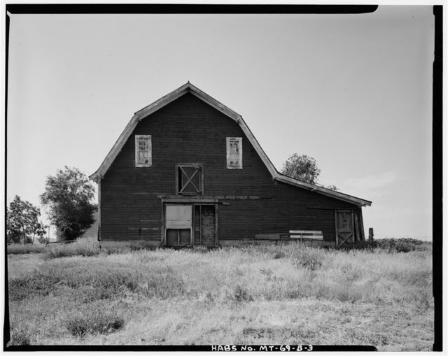 Myaer Barn, 2747 Old Hardin Road, Lockwood Flats area, Billings, Yellowstone County, MT