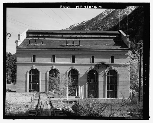 Mystic Lake Hydroelectric Facility, Powerhouse, Along West Rosebud Creek, 1 3/4 miles northeast of Mystic Lake Dam, Fishtail, Stillwater County, MT