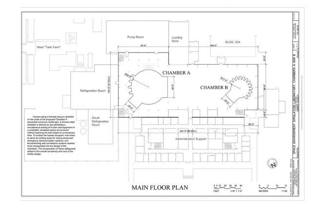 NASA Johnson Space Center, Building No. 32, Space Environment Simulation Laboratory, Chambers A & B, 2101 NASA Parkway, Houston, Harris County, TX