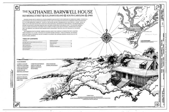 Nathaniel Barnwell House, 1023 Middle Street, Sullivans Island, Charleston County, SC