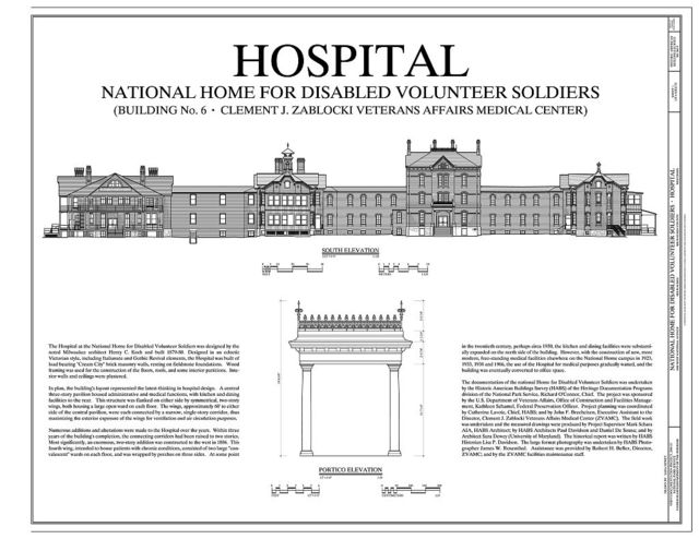 National Home for Disabled Volunteer Soldiers, Northwestern Branch, Hospital, 5000 West National Avenue, Milwaukee, Milwaukee County, WI