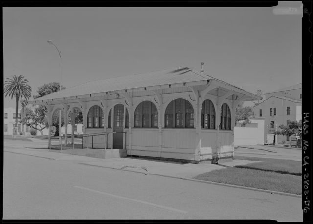 National Home for Disabled Volunteer Soldiers, Pacific Branch, Trolley Stop, 11301 Wilshire Boulevard, West Los Angeles, Los Angeles County, CA