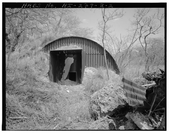 Naval Air Station Barbers Point, Anti-Aircraft Battery Complex-ARMCO Hut, East of Coral Sea Road, northwest of Hamilton Road, Ewa, Honolulu County, HI