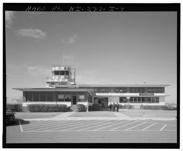 Naval Air Station Barbers Point, Control Tower & Aviation Operations Building, Near intersection of runways between Hangar 110 & Building 115, Ewa, Honolulu County, HI
