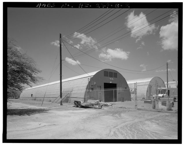 Naval Air Station Barbers Point, Quonset Hut Type 2 - 40' x 200', Norris Street south of Vinson Road, Ewa, Honolulu County, HI