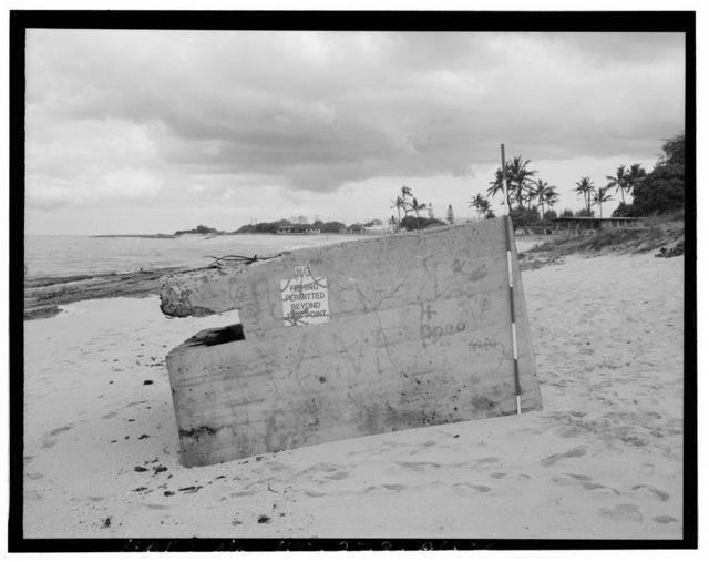 Naval Air Station Barbers Point, Shore Pillbox Complex-Type 3 Pillbox, Along shoreline, seaward of Coral Sea Road, Ewa, Honolulu County, HI