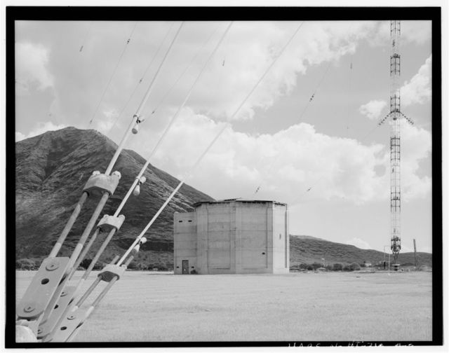 Naval Computer & Telecommunications Area Master Station, Eastern Pacific, Radio Transmitter Facility Lualualei, Helix House No. 2, Base of Radio Antenna Structure No. 427, Makaha, Honolulu County, HI