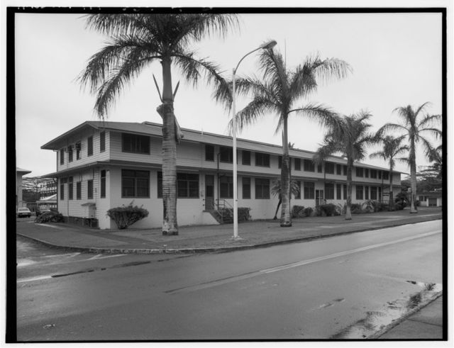 Naval Computer & Telecommunications Area Station, Enlisted Men's Barracks, West corner of Central Street & Midway Drive, Wahiawa, Honolulu County, HI