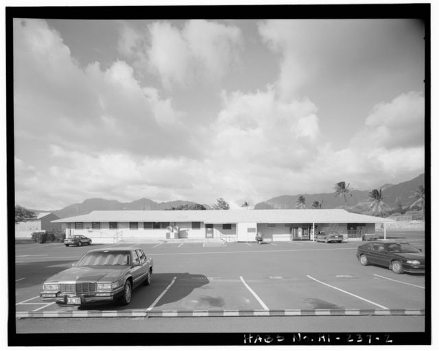 Naval Magazine Lualualei, Headquarters Branch, Administration Building-Exchange, Kolekole Road near Constitution Street intersection, Pearl City, Honolulu County, HI