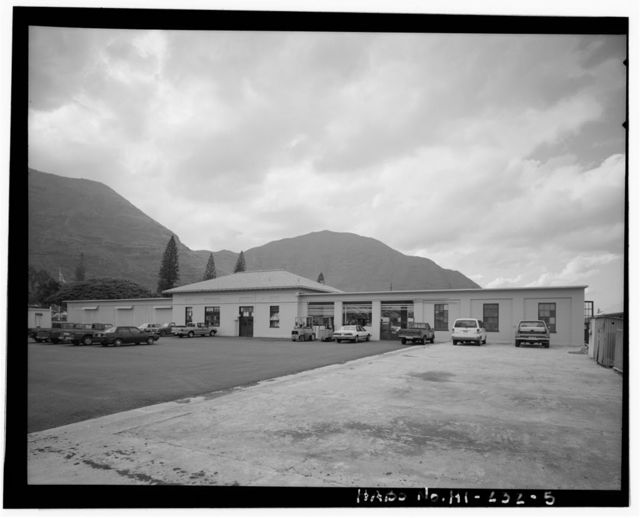 Naval Magazine Lualualei, Headquarters Branch, Garage-Shop, West of Kolekole Road, near Constitution Street intersection, Pearl City, Honolulu County, HI