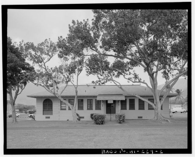 Naval Magazine Lualualei, Headquarters Branch, Police Station, Kolekole Road & Constitution Street intersection, north side of main quad, Pearl City, Honolulu County, HI