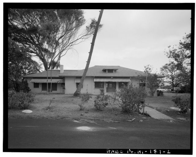 Naval Magazine Lualualei, West Loch Branch, Officer's Quarters, End of B Avenue, Pearl City, Honolulu County, HI