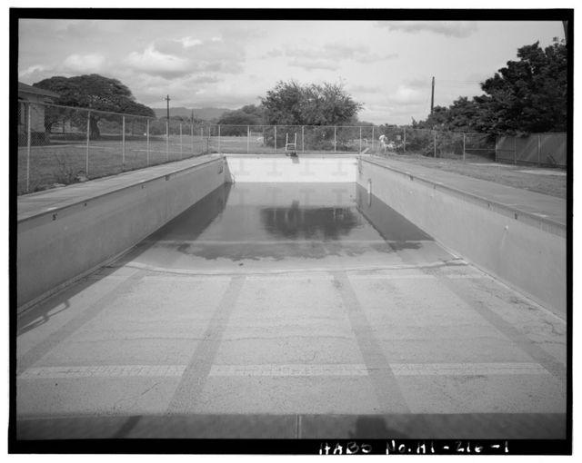 Naval Magazine Lualualei, West Loch Branch, Swimming Pool, Off Arizona Loop, east of Barracks (Building No. 9), Pearl City, Honolulu County, HI