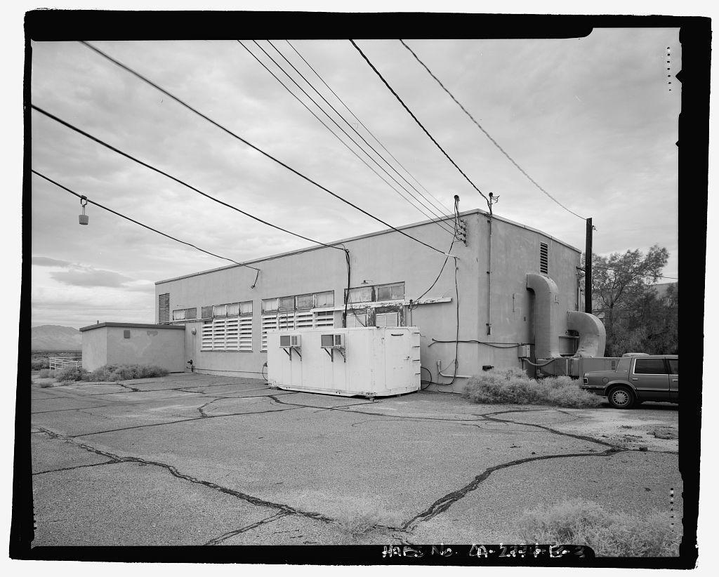 Naval Ordnance Test Station Inyokern, China Lake Pilot Plant, Maintenance Shop, C Street, China Lake, Kern County, CA