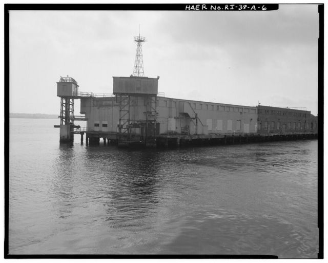 Naval Torpedo Station, Firing Pier, North end of Gould Island in Narragansett Bay, Newport, Newport County, RI