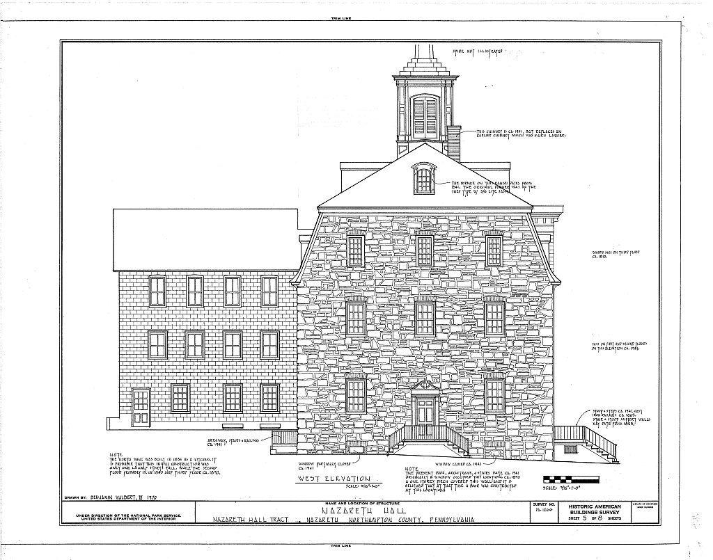 Nazareth Hall, Nazareth Hall Tract, Nazareth, Northampton County, PA