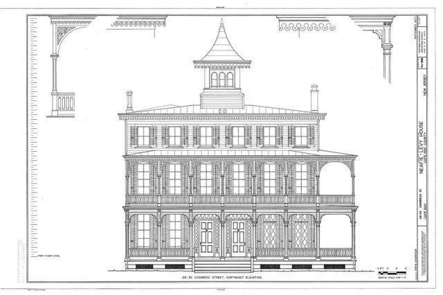 Neafie-Levy House, 28-30 Congress Street, Cape May, Cape May County, NJ