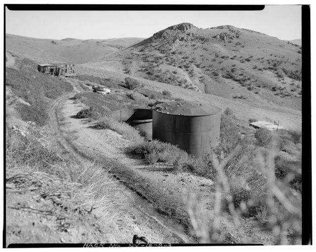 Nevada Lucky Tiger Mill & Mine, Water Tanks, East slope of Buckskin Mountain, Paradise Valley, Humboldt County, NV
