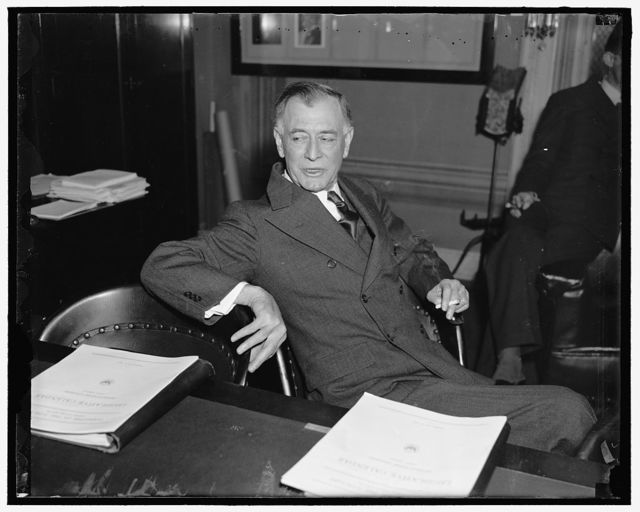 Nevada Senator. Washington D.C. A new Informal picture of United States Senator Key Pittman, Democrat of Nevada