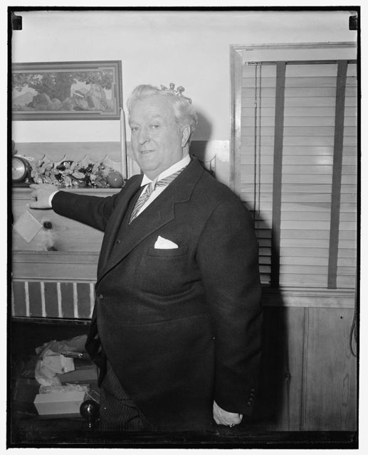 Nevada Senator. Washington, D.C., April 24. A new informal picture of Senator Pat McCarran, democrat of Nevada