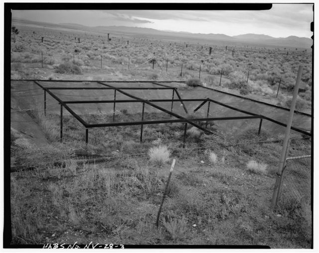 Nevada Test Site, Environmental Protection Agency Farm, Area 15, Yucca Flat, 10-2 Road near Circle Road, Mercury, Nye County, NV