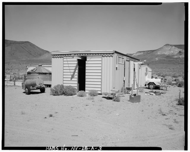 Nevada Test Site, Environmental Protection Agency Farm, Laboratory Building, Area 15, Yucca Flat, 10-2 Road near Circle Road, Mercury, Nye County, NV