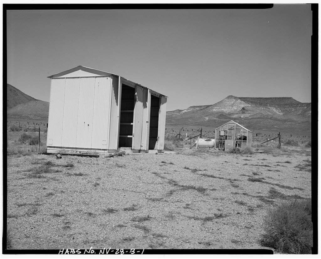 Nevada Test Site, Environmental Protection Agency Farm, Storage Shed, Area 15, Yucca Flat, 10-2 Road near Circle Road, Mercury, Nye County, NV