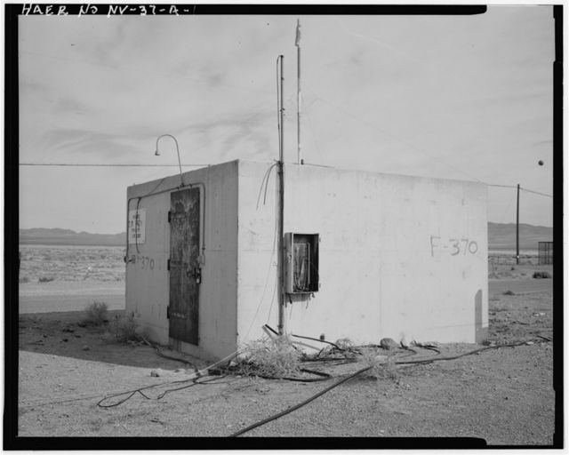 Nevada Test Site, Frenchman Flat Test Facility, Main Switching Bunker, Intersection of 5-03 Road & Short Pole Line Road, Area 5, Frenchman Flat, Mercury, Nye County, NV