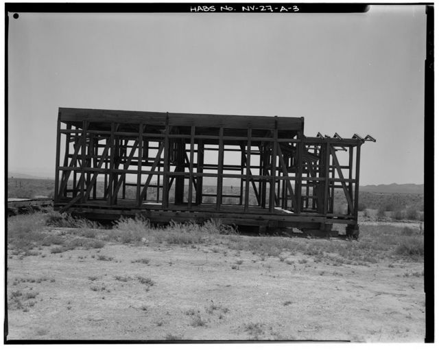 Nevada Test Site, Japanese Village, Type B Structure, Area 4, Yucca Flat, 4-04 Road near Rainier Mesa Road, Mercury, Nye County, NV