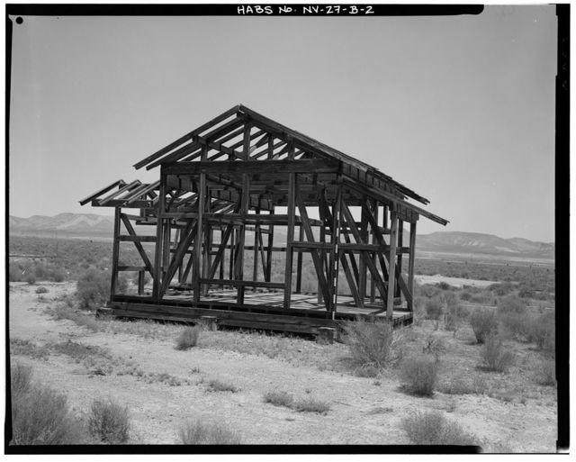 Nevada Test Site, Japanese Village, Type C Structure, Area 4, Yucca Flat, 4-04 Road near Rainier Mesa Road, Mercury, Nye County, NV