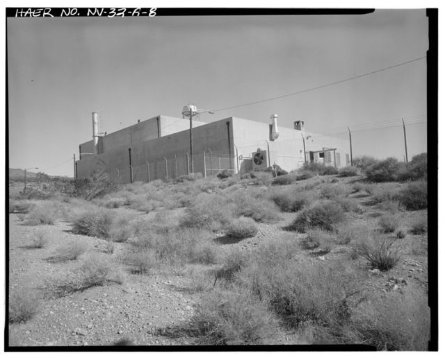 Nevada Test Site, Pluto Facility, Disassembly Building, Area 26, Wahmonie Flats, Cane Spring Road, Mercury, Nye County, NV