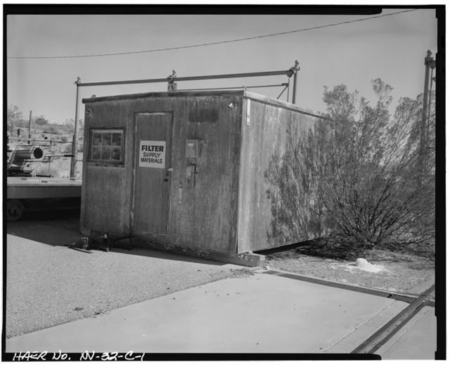 Nevada Test Site, Pluto Facility, Water Filtering System Brock House, Area 26, Wahmonie Flats, Cane Spring Road, Mercury, Nye County, NV