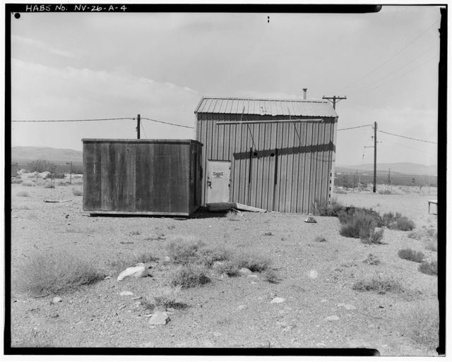 Nevada Test Site, Reactor Maintenance & Disassembly Complex, Junior Hot Cell, Jackass Flats, Area 25, South of intersection of Roads F & G, Mercury, Nye County, NV