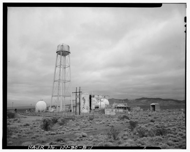 Nevada Test Site, Test Cell C Facility, Elevated Water Tower, Area 25, Jackass Flats, Road J, Mercury, Nye County, NV