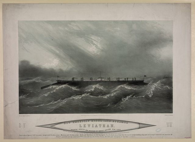 New American model iron steamer Leviathan